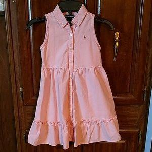 Ralph Lauren Pink Girls Dress size 5 EUC
